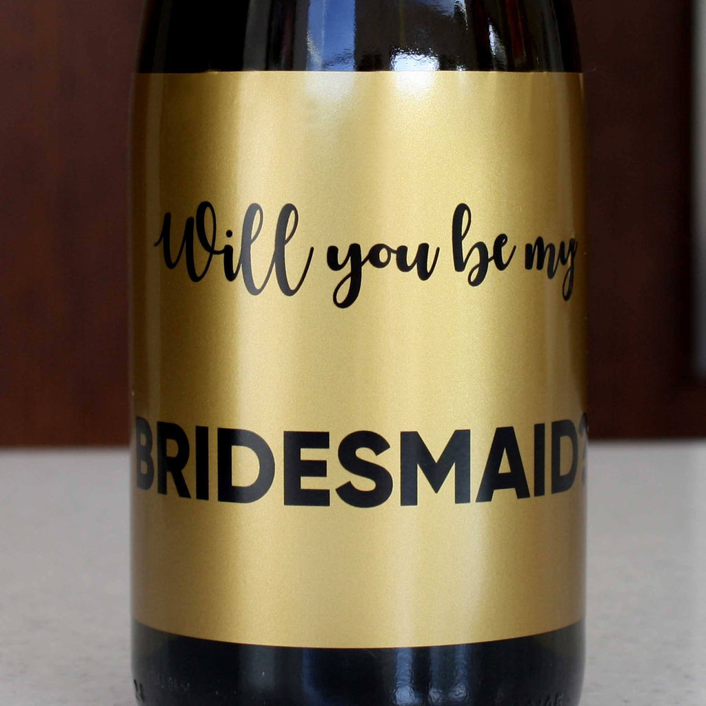 Gold Bridesmaid Proposal Stickers