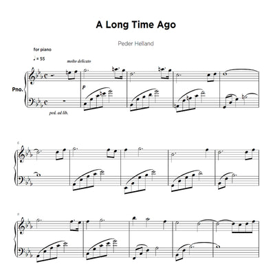 A Long Time Ago - Sheet Music