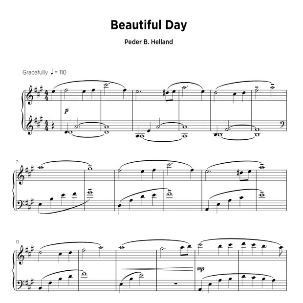 Beautiful Day - Sheet Music