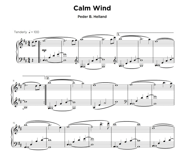 Calm Wind - Sheet Music