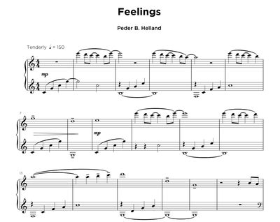 Feelings - Sheet Music