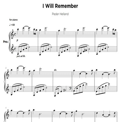 I Will Remember - Sheet Music