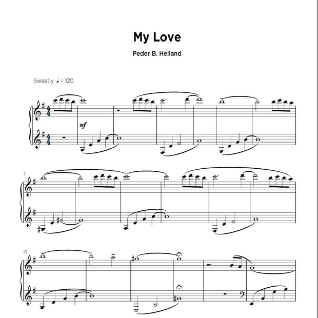 My Love - Sheet Music