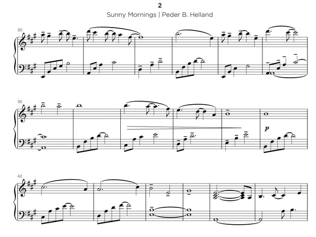 Sunny Mornings - Sheet Music