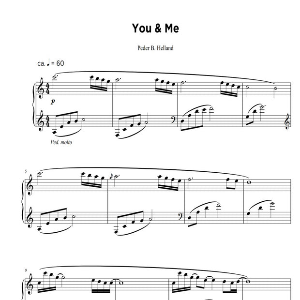 You & Me - Sheet Music