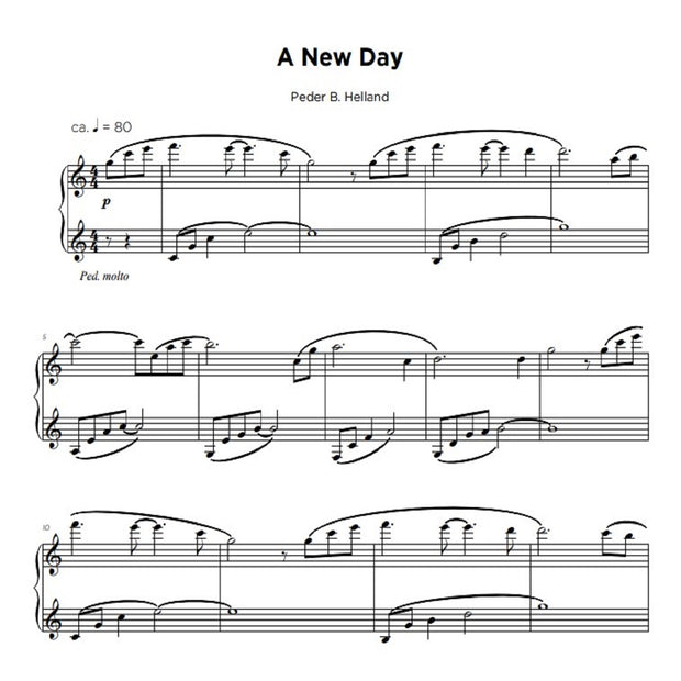 A New Day - Sheet Music