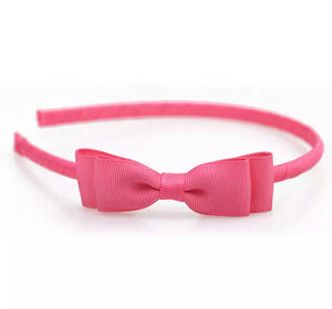 Bow Headbands - Solid Grosgrain - 11 Colors