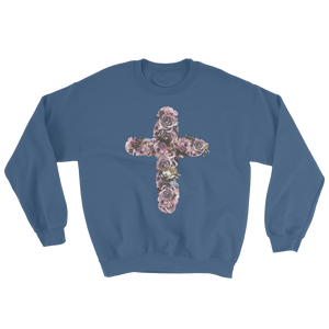 River Row Dark Floral Cross sweatshirt