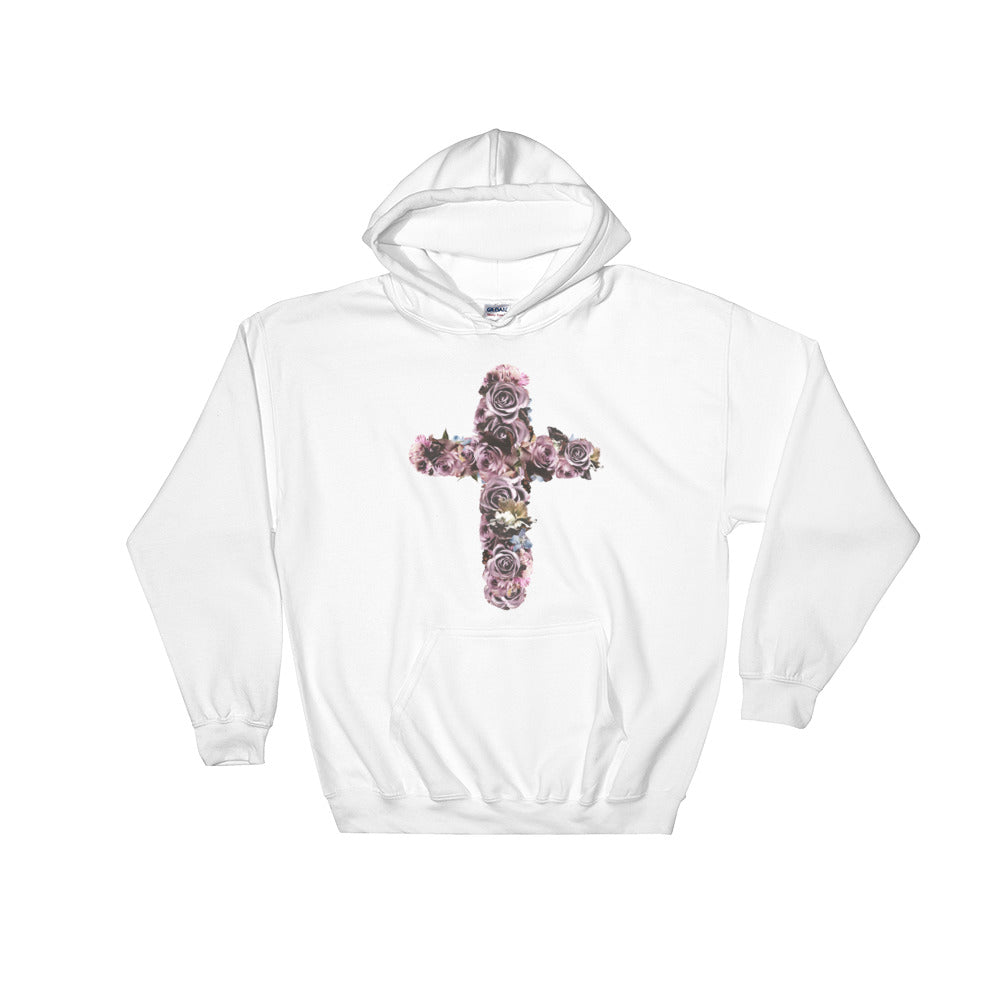 River Row Dark Floral Cross hoodie