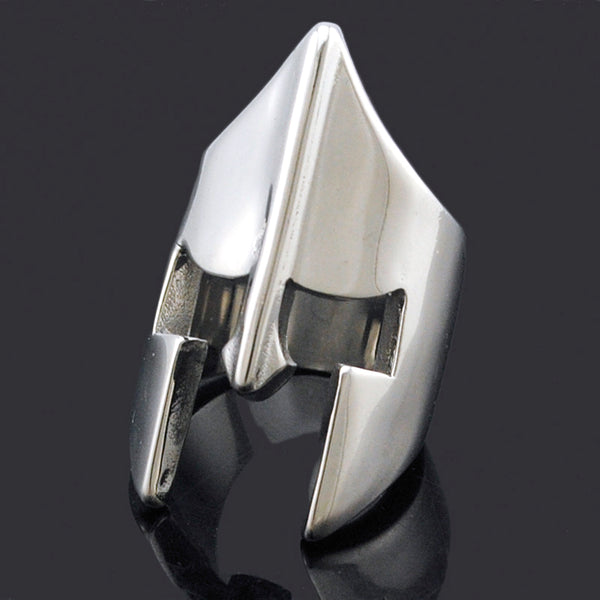 Men's High Quality Stainless Steel 'Spartan' Novelty Rings