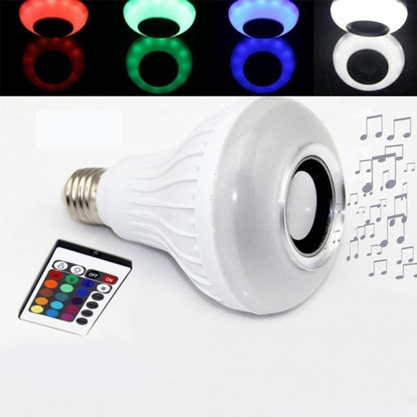 SMART BULB - Multi-Functional Remote Control BlueTooth Speaker LED Bulb