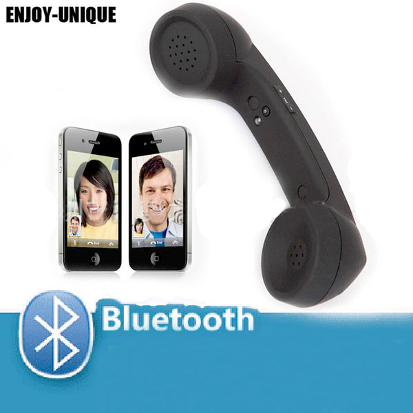 Unique New Retro Style Wireless Bluetooth  Handset Mic Speaker Phone Call Receiver