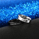 """His Queen & Her King"" Couples Ring"