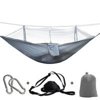 Mosquito Net Travel Hammock Tent W/ Adjustable Straps And Carabiners