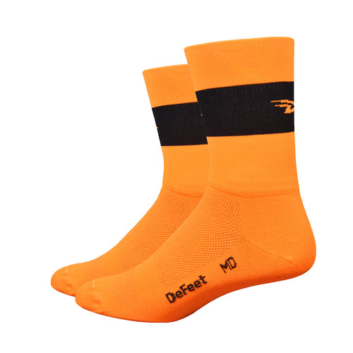"Aireator 5"" Team DeFeet (Hi-Vis Orange w/Black Stripe)"