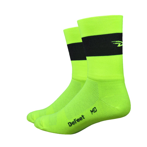 "Aireator 5"" Team DeFeet (Hi-Vis Yellow w/Black Stripe)"