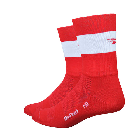 "Aireator 5"" Team DeFeet (Red w/White Stripe)"
