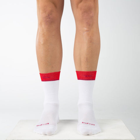 "Aireator 6"" Team DeFeet (White/Scarlet)"