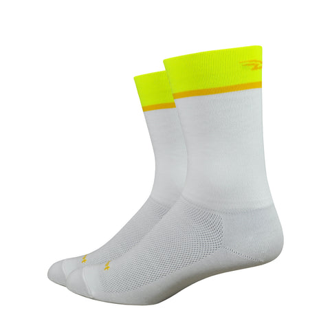 "Aireator 6"" Team DeFeet (White/Hi-Vis Yellow)"