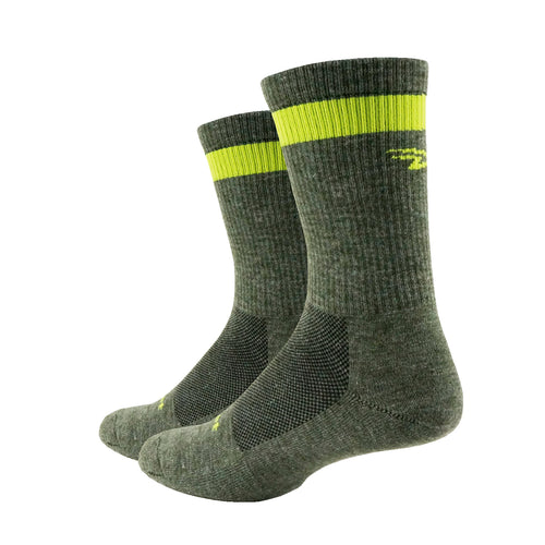 Levitator Trail Dirtbagger Wool Comp (Loden Green w/Hi-Vis Yellow)