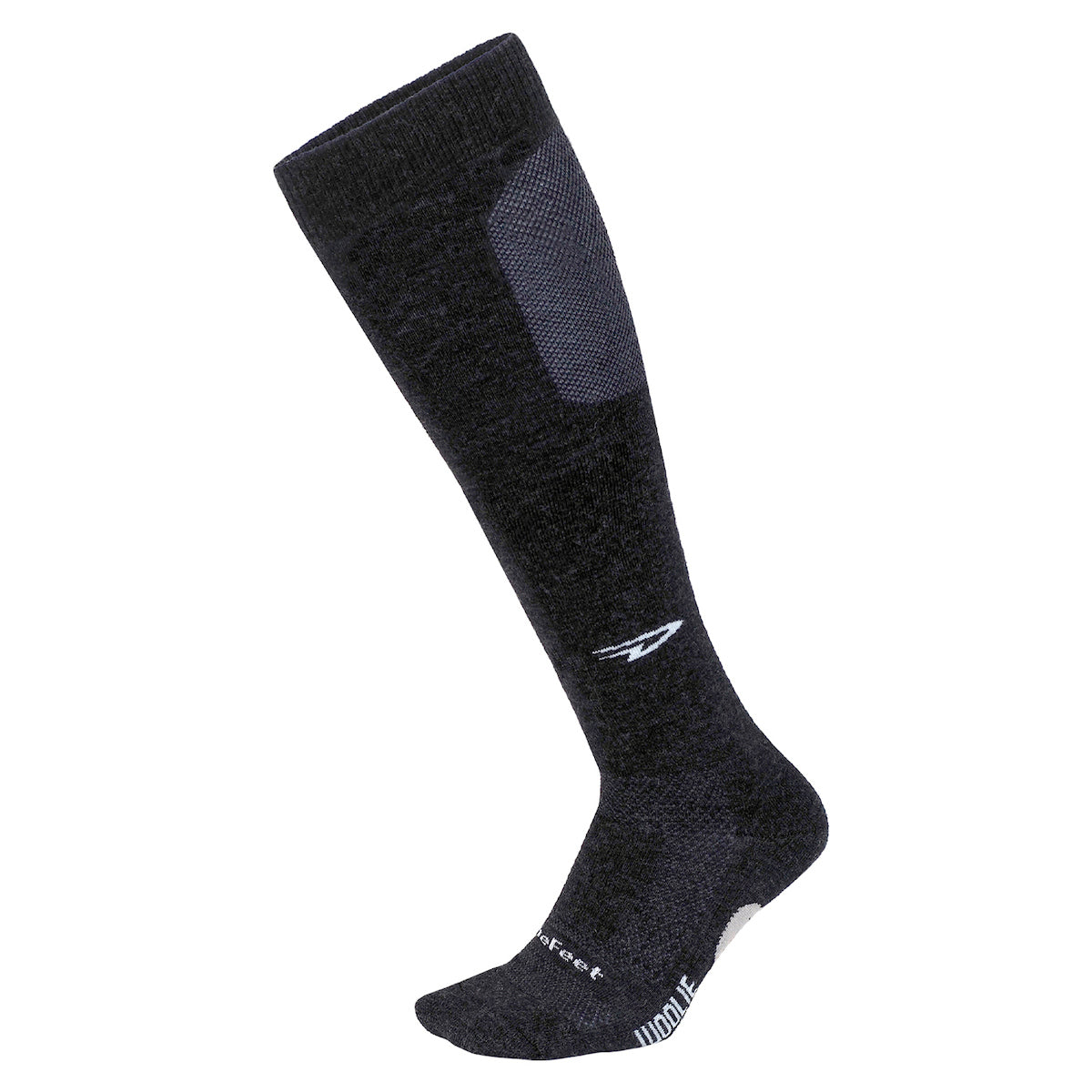 Woolie Boolie Knee High D-Logo Charcoal