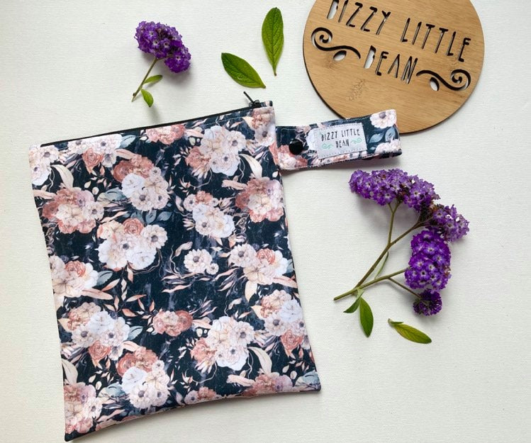 Bizzy Little Bean - Mini Wetbag - Antique Floral PUL