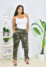 Camouflage Jogger with Ankle Tie