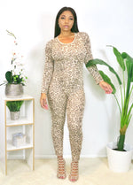 Catsuit Leopard and Duster Set
