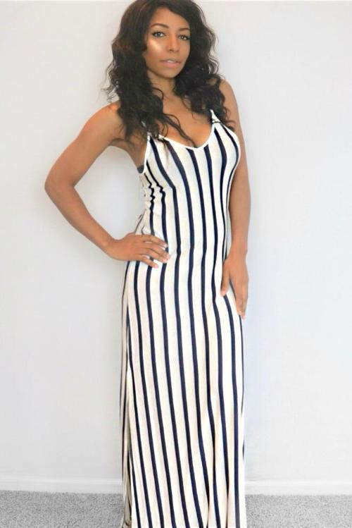 Striped Summer Maxi Dress
