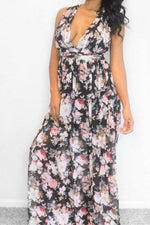 Chiffon Floral Maxi-Dress