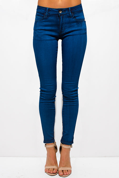Teal Blue Jeans Jeggings