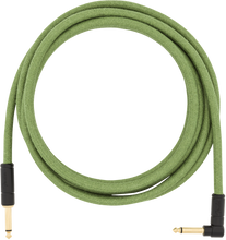 Fender 10' Angled Festival Instrument Cable Pure Hemp Green