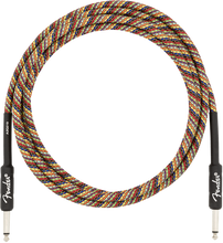 Fender 10' Angled Festival Instrument Cable Pure Hemp Rainbow