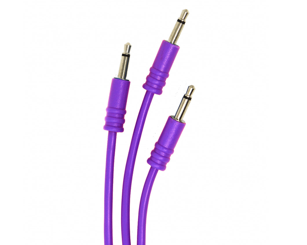 ALM Busy Circuits 30cm Purple Patch Cable - Pack of 5