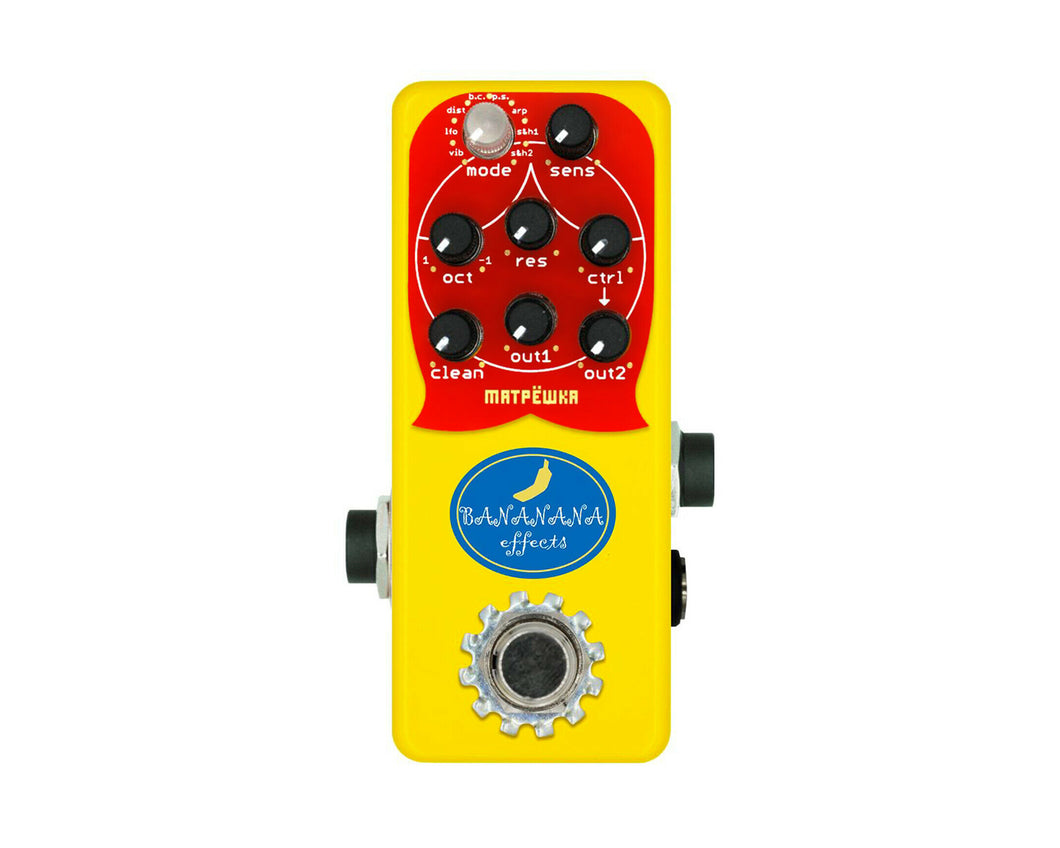 Bananana Effects Matryoshka (Matpëwka) Mini Bass Synth Effects Pedal