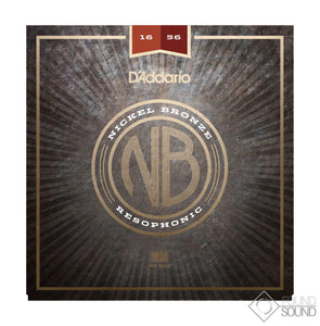 D'Addario NB1656 Nickel Bronze Acoustic Guitar Strings Resophonic 16-56