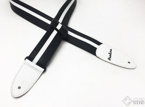 Eastwood Airline Custom Leather Strap - Black/White