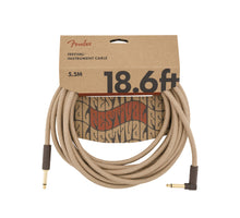 Fender 18.6' Angled Festival Instrument Cable Pure Hemp Natural