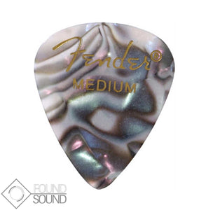Fender 351 Shape Medium Premium Celluloid Picks - Abalone (Pack of 12)