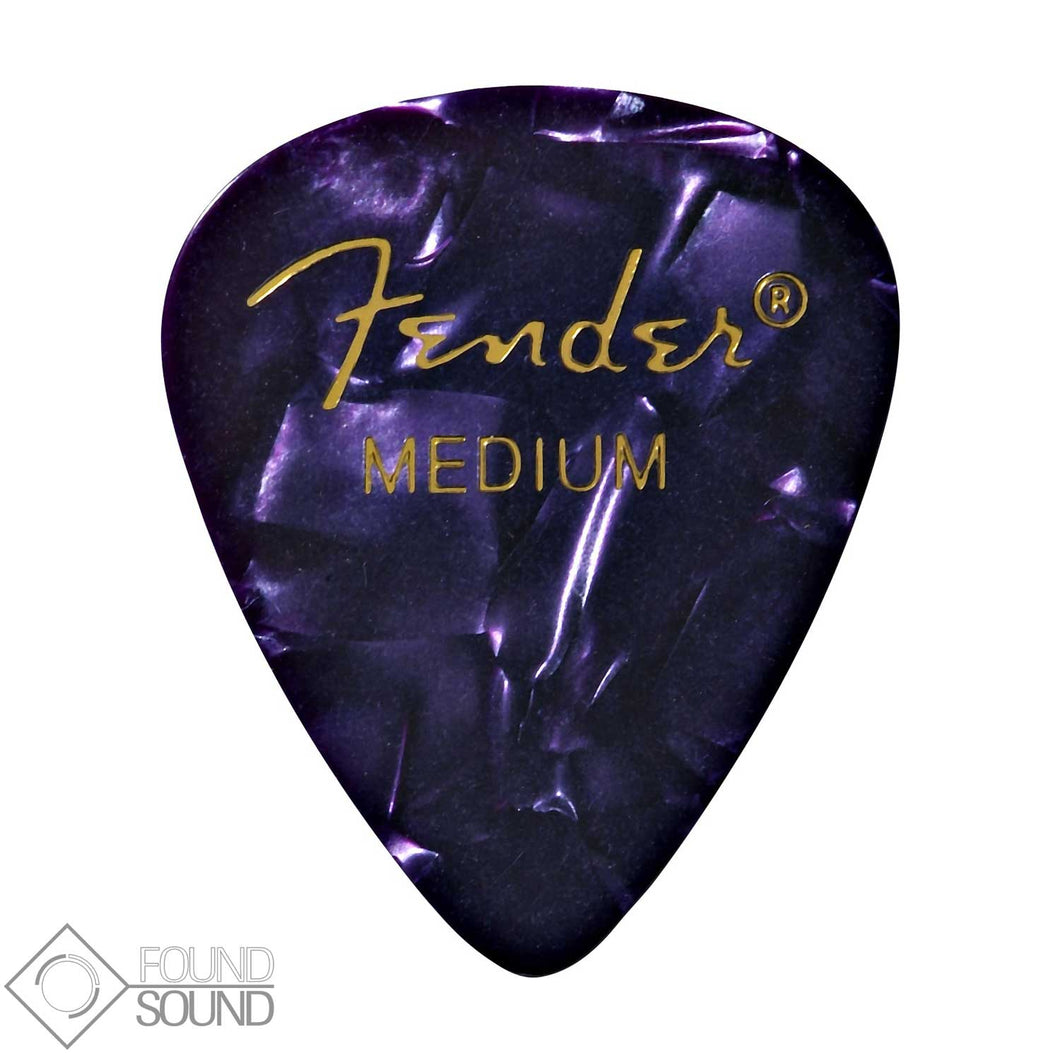 Fender 351 Shape Medium Premium Celluloid Picks - Purple Moto (Pack of 12)