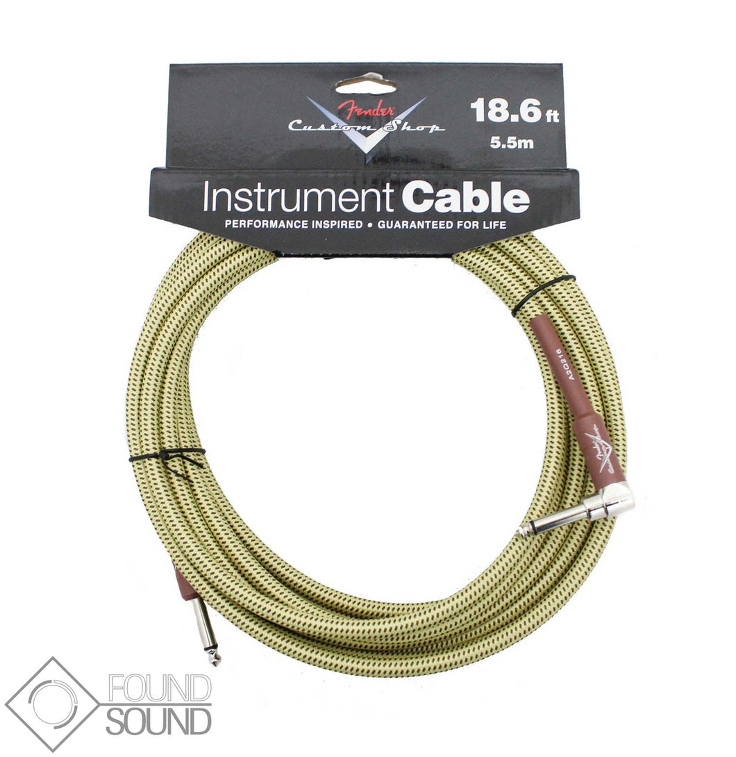Fender Angled Custom Shop 18.6 Foot Cable - Tweed