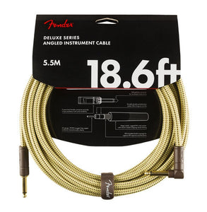 Fender Deluxe Series 18.6' Angled Instrument Cable Tweed