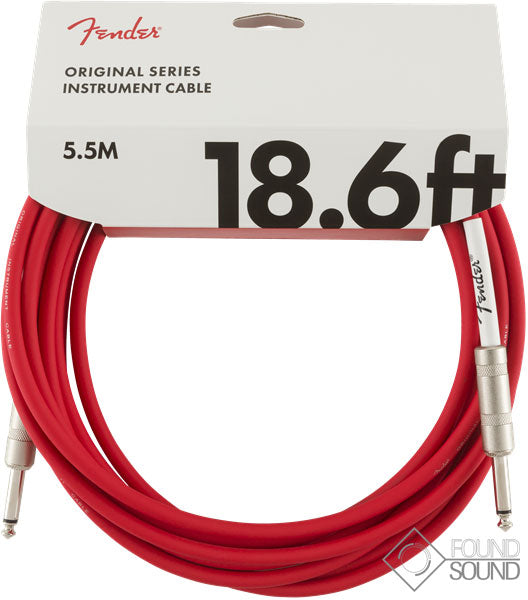 Fender Original Series 18.6' Instrument Cable Fiesta Red