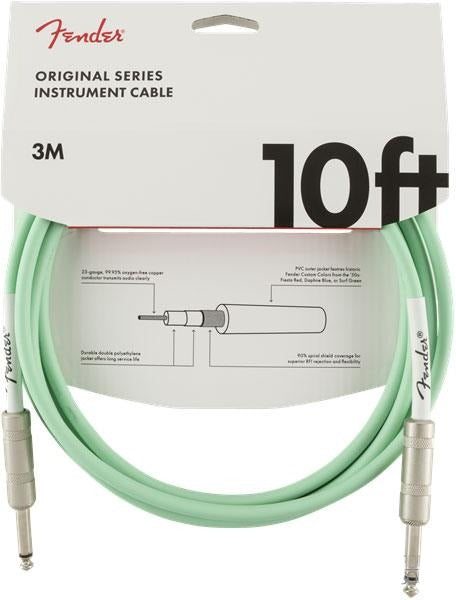 Fender Original Series 10' Instrument Cable Surf Green