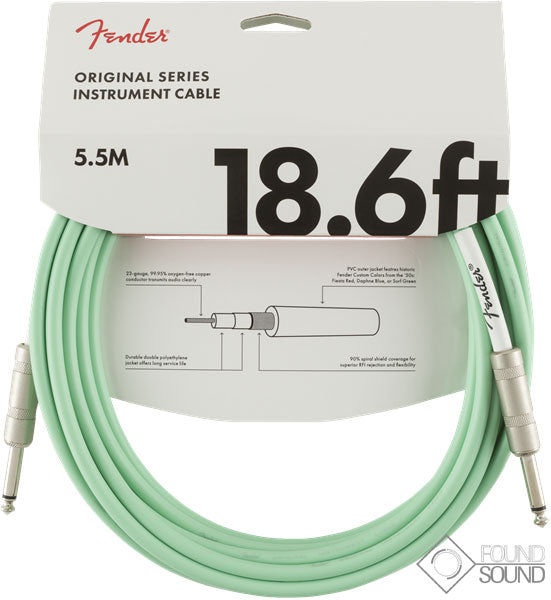 Fender Original Series 18.6' Instrument Cable Surf Green