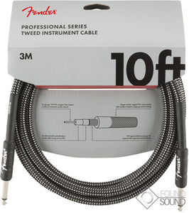 Fender Pro Series 10' Instrument Cable Grey Tweed
