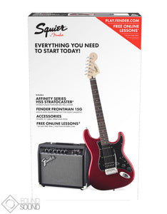 Fender Squier Affinity Series Stratocaster HSS Pack Candy Apple Red