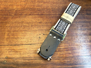 Hey Laidy Back To Black Handmade Guitar Strap