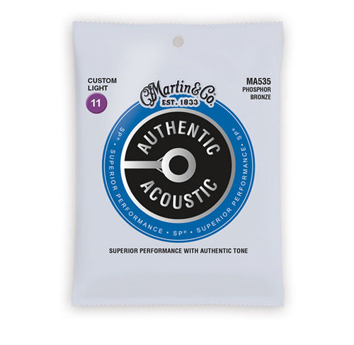Martin Authentic 11-52 Acoustic Guitar Strings 92/8