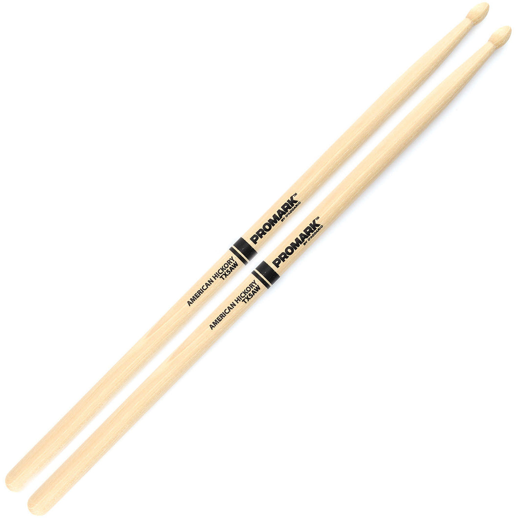 Promark 5A American Hickory Drumsticks (Wooden Tip)